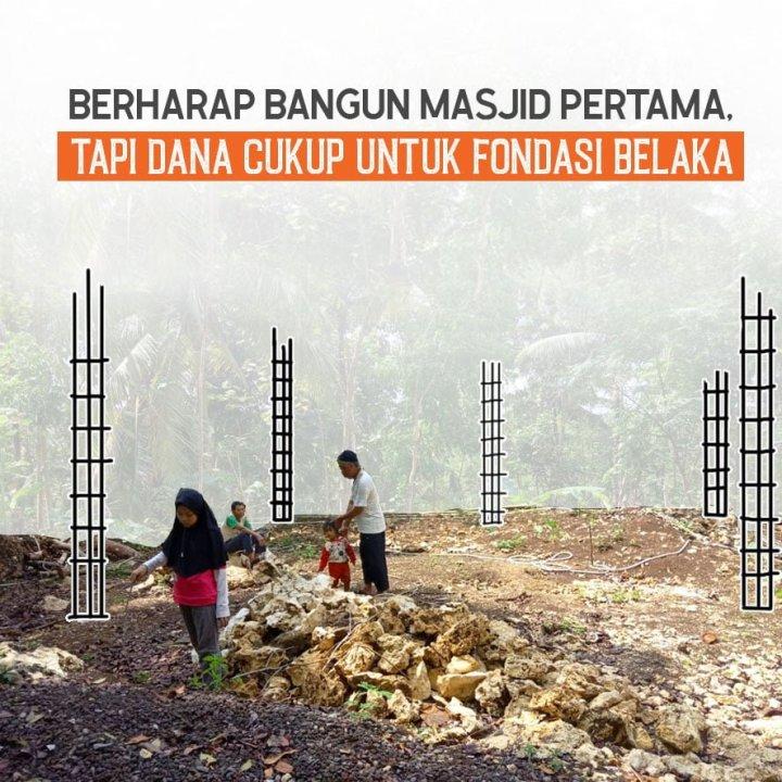 Berharap Bangun Masjid Pertama, Tapi Dana Cukup untuk Fondasi Belaka