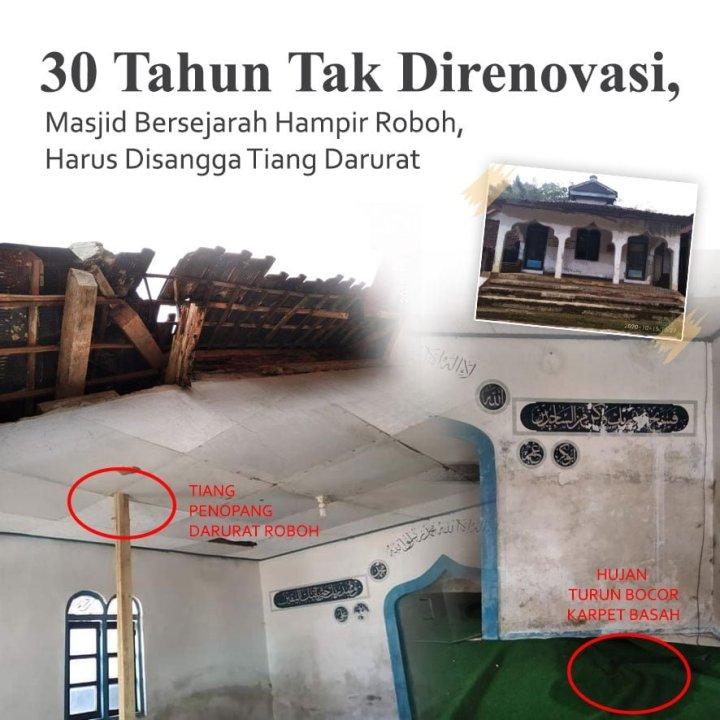 Patungan Cegah Masjid Nuroh Fahad Ambruk