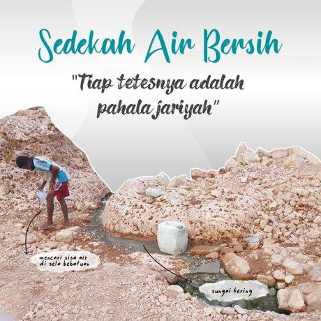 Krisis Air Bersih, Warga Mencari di Sela-sela Batu