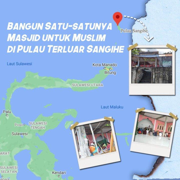Muslim di Pulau Terluar Sangihe Impikan Beribadah di Masjid yang Layak