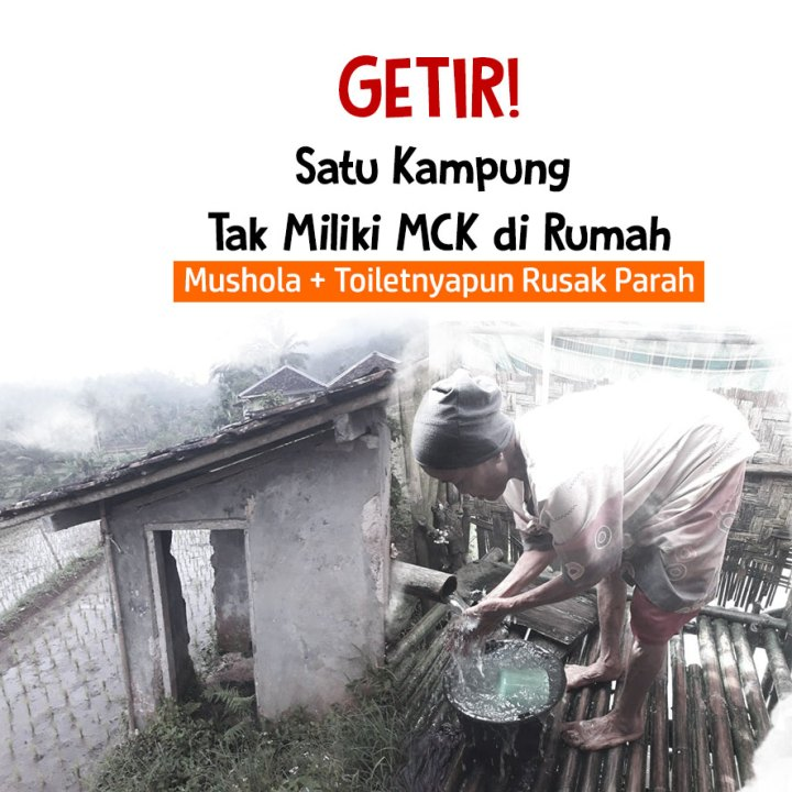 Urgent! Bantu 40 KK Warga Pelosok Sukabumi Miliki Mushola & MCK Layak