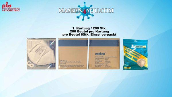 1 Kartung FFP2 ZOOBOG ZB008