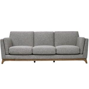 ceni 3 seater sofa pebble grey by masons home decor singapore