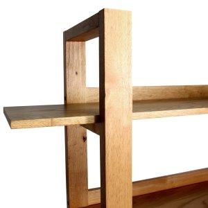 mason natural oak solid wood bookshelf