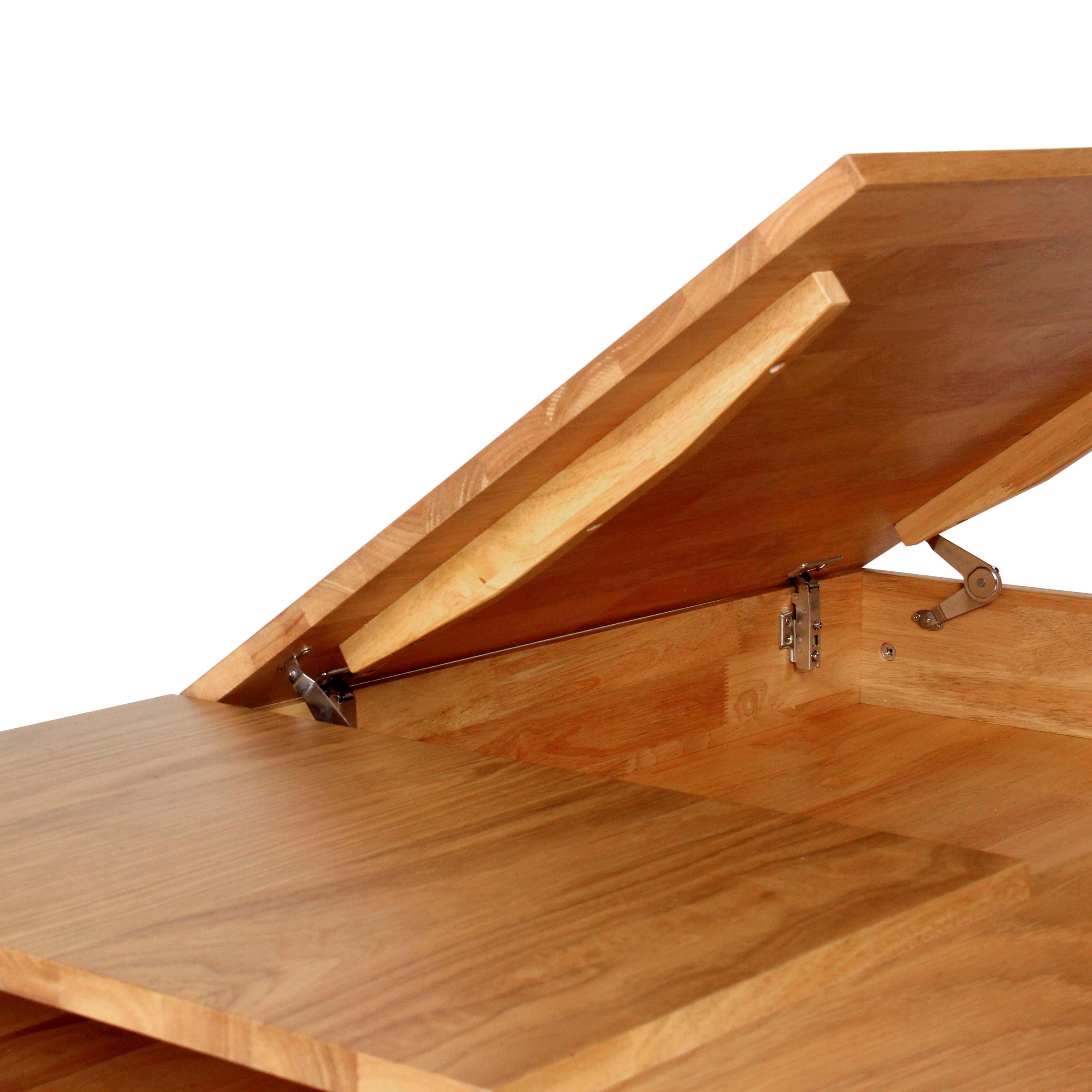 mason natural oak solid wood coffee table