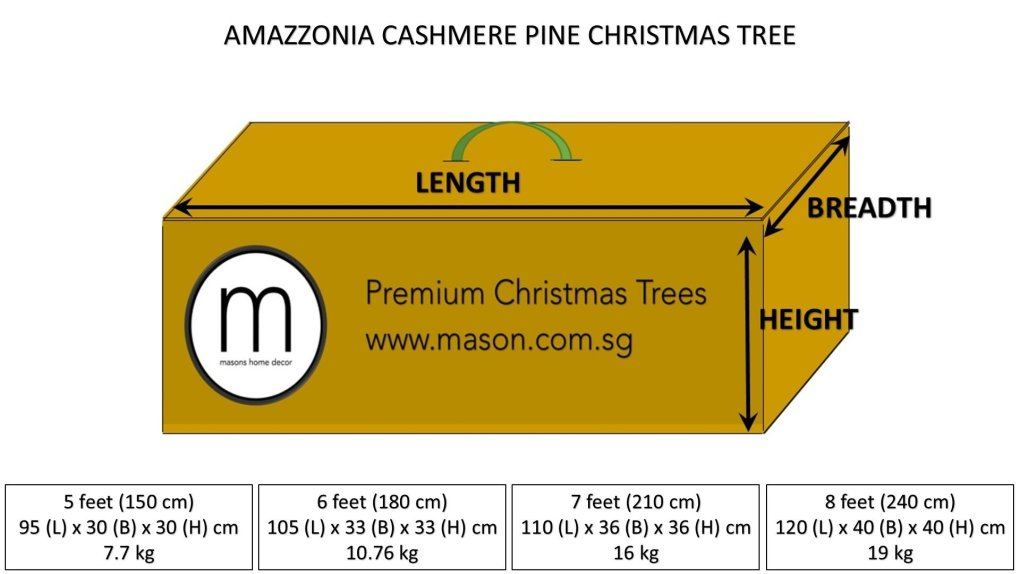amazzonia christmas tree dimensions and weight