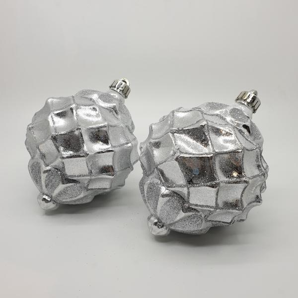 Silver Giant Nova Baubles by Masons Home Decor
