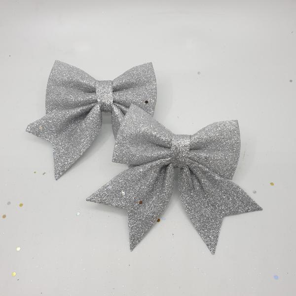 Glittery Silver Ribbons by Masons Home Decor