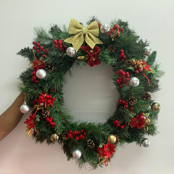 decorated christmas wreath singapore by masons home decor