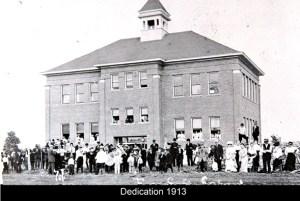 Free Soil school opening dedication in 1913.