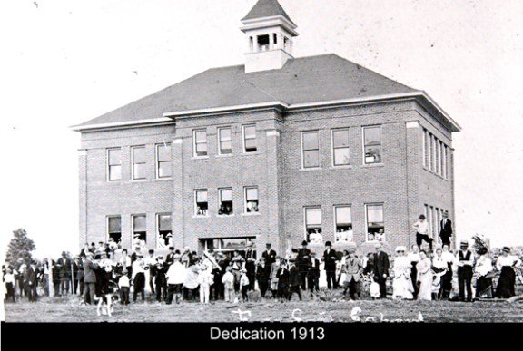 Free Soil school opening dedication in 1913.