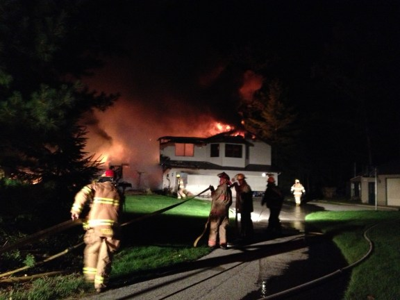 house fire 4372 N Lincoln Rd