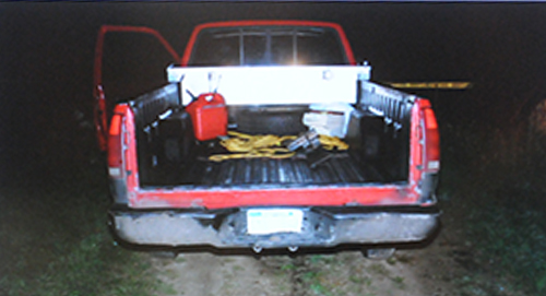 The 1988 Chevrolet pickup that Eric Knysz borrowed from his dad on Sept. 9, 2013.