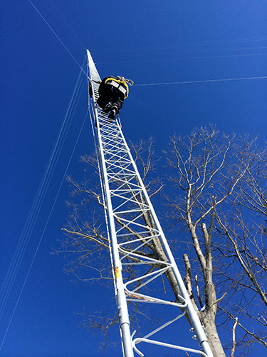 The final stages of a 330 foot tower near Ford Lake are nearing completion.