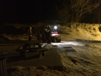 Personnel from Hamlin Twp. Fire Dept. used an ATV to recover the body.