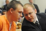 Eric Knysz with his public defender David Glancy.