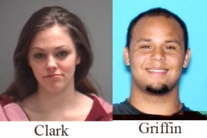 Kayleigh Lynn Clark, left, Tyler Joel Griffin.