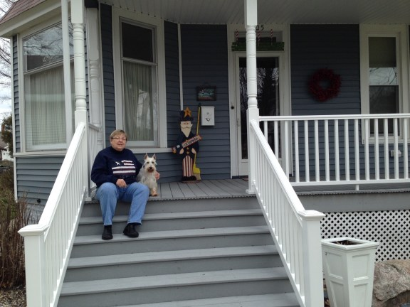 Karen at her Ludington home.