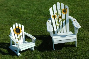 M. A. Ferguson, sunflower chairs—Let the Sun Shine; You are My Sunshine