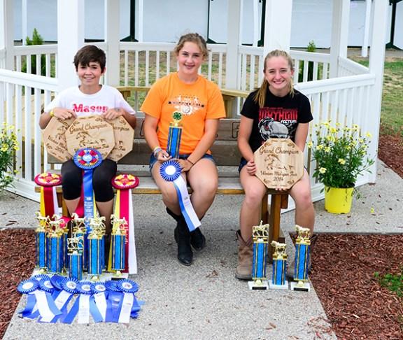Level 1: From left: Carly Holcomb, Carli Rainbolt, Grace Jankwietz.