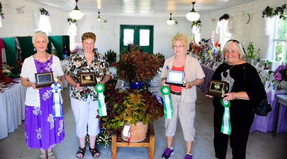 Domestic Arts Best of Class winners. From left: Sharon Morman, Darlene Fuhrman, Edith Lilliberg, Susan Boes. Missing: Leann Saxton, Walter Knowles.
