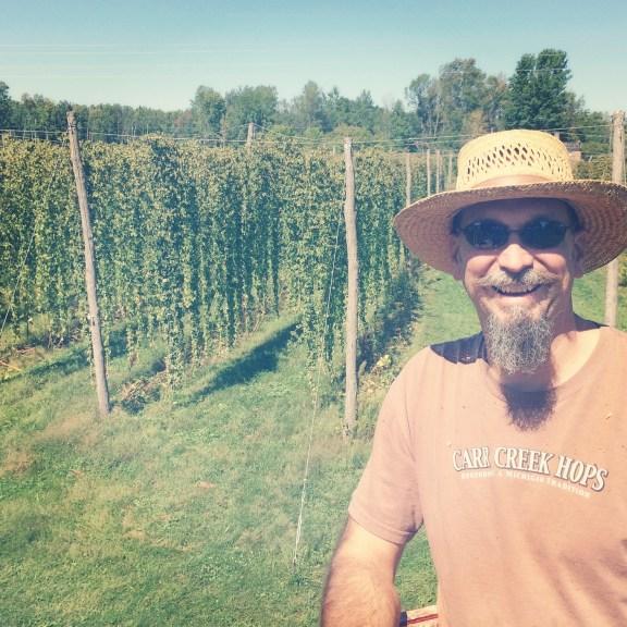 Blake Mazurek poses over his crop.