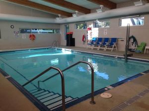 Swimming lessons and aquatic classes are available in the 89-degree pool at Lakeside Comprehensive Rehabilitation on East Main Street in Hart.