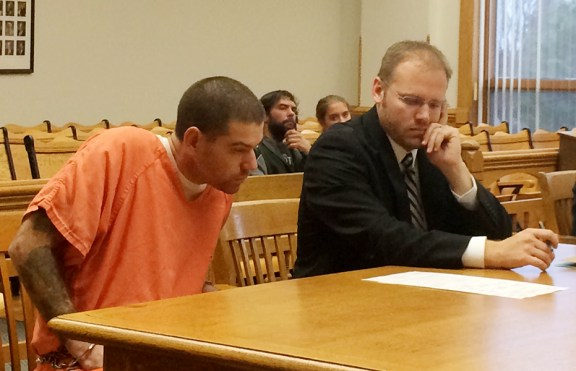 Anthony, left, with his court appointed attorney, David Glancy.