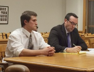 Joseph Cook, left, with his attorney, Gary Sprinstead.