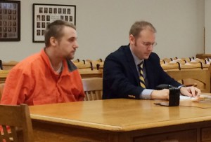 Fremont Kerricks, left, with his attorney David Glancy.