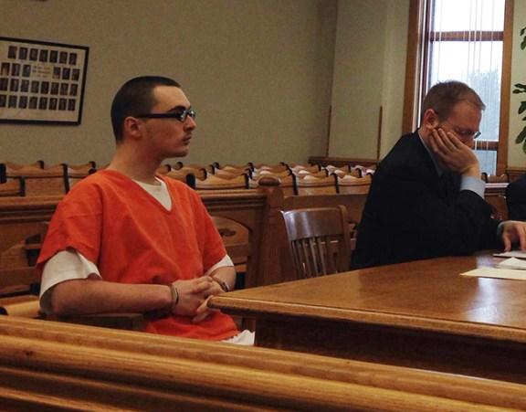 Jonathan Herman Chambers Jr. left with his attorney, David Glancy.