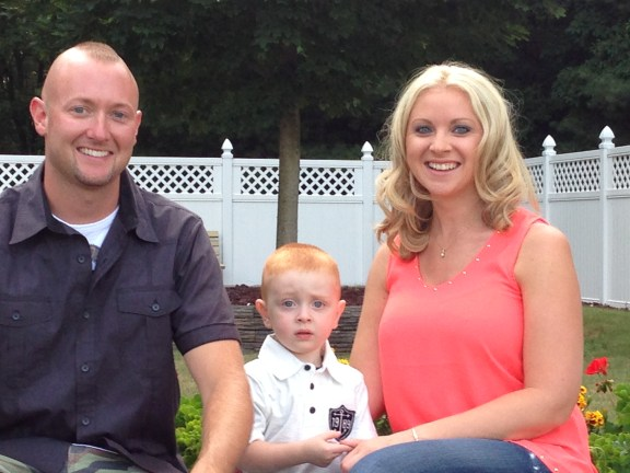 Adam and BethAnn with their son, Max.
