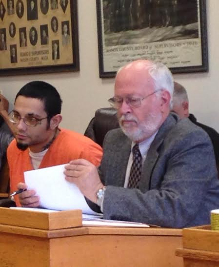Nicholas Lauterwasser with his attorney, Douglas Stevenson.