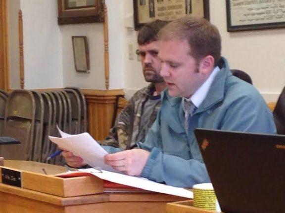 Randy VanDerZanden, at left, with his attorney David Glancy.