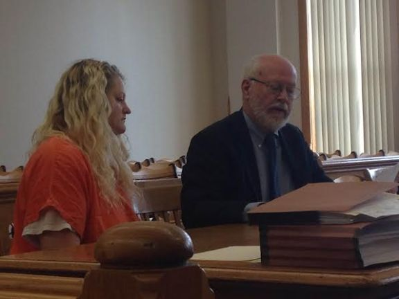 Melissa Streeter with her attorney, Doug Stevenson.