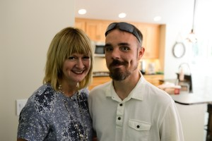 Eric with his aunt, Melissa Boggs