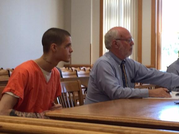 Zachary Shurlow with his attorney, Douglas Stevenson.