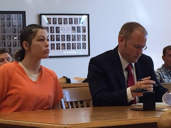 Shalyn Raney with her attorney, David Glancy.