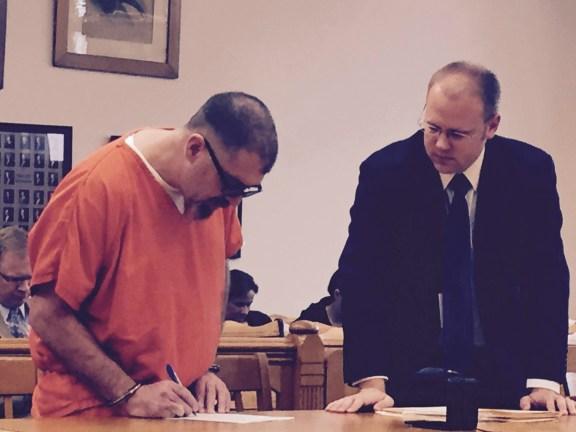Scott Stahelin with his attorney, David Glancy.