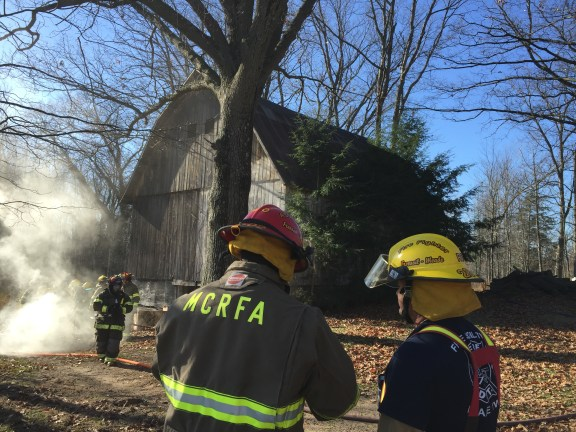 free soil fire department barn fire
