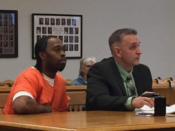 Elrico Brooks with his attorney, Al Swanson, Jr.