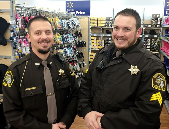 Deputy John Balowski, left, and Sgt. Adam Lamb.