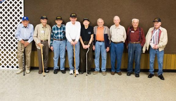 Nine World War II veterans attended Wednesday's program.