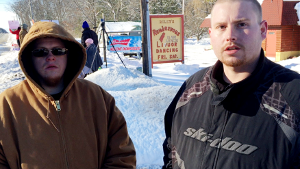 Tyler Janicki, left, and Brad Dodson claim that Tyler was discriminated against because he wasn't allowed to use the bar's restroom.