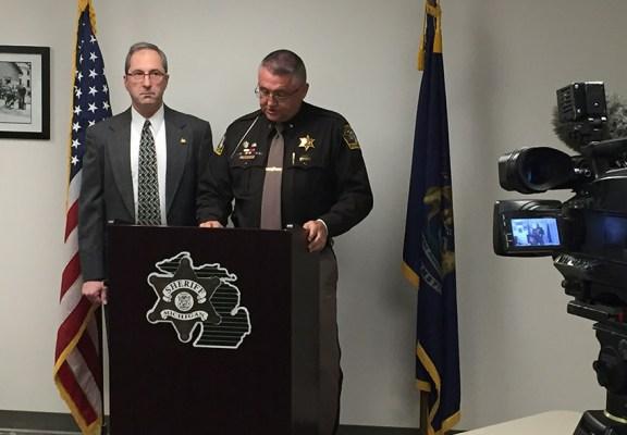 Mason County Prosecutor Paul Spaniola and Sheriff Kim Cole.