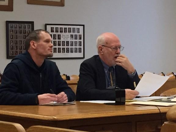 David Bothwell with his attorney, Douglas Stevenson.