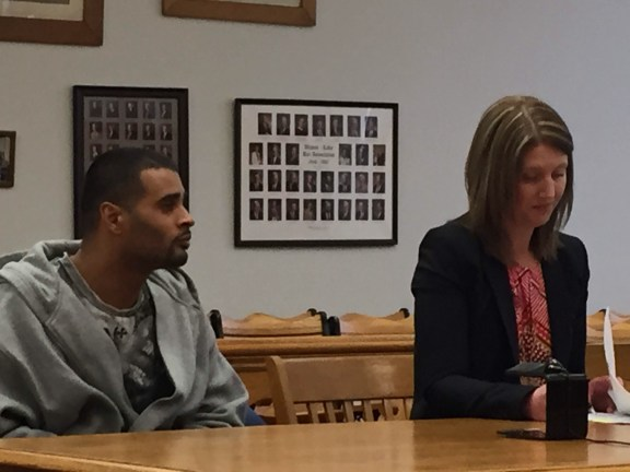 Gardenshire with his attorney, Karri Russell.
