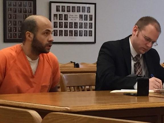 Joban Scott with his attorney, David Glancy.