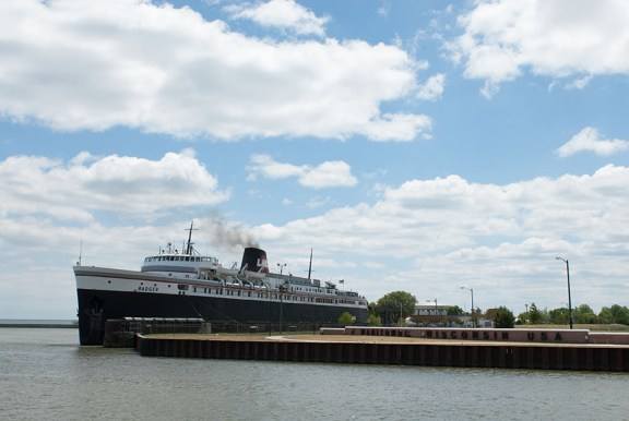 File photo, SS Badger in Manitowoc, Wis.