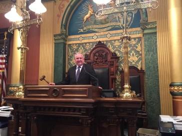 Rep. Franz fulfilling his duties as associate speaker pro-tem.